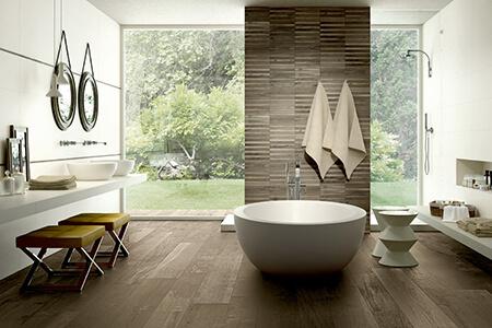 Badezimmer: freistehende Badewanne HERGET